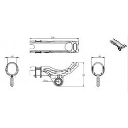 Porte canne simple Nylon