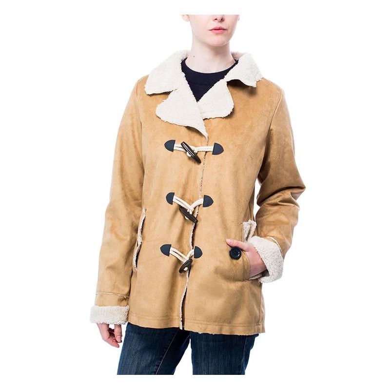 Lucile beige Manteau femme en peau lainée HUBLOT - HUBLOT