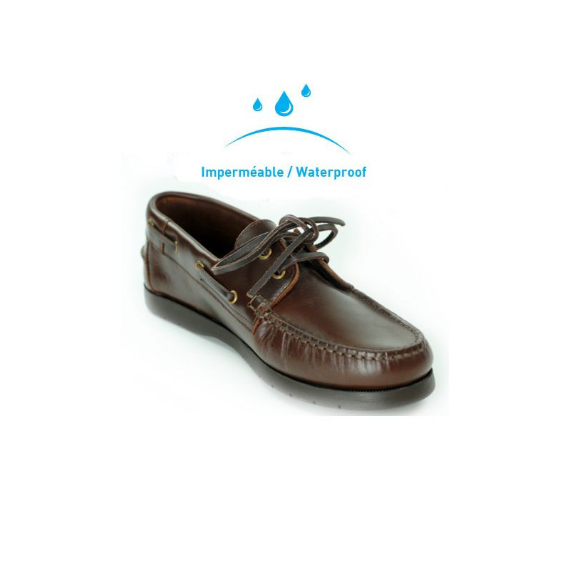 Chaussure bateau homme ORANGEMARINE Seamarine cuir marron