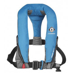 Gilet de sauvetage gonflable automatique 165N avec harnais CREWFIT sport Bleu clair - CREWSAVER