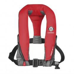 Gilet de sauvetage gonflable automatique 165N avec harnais CREWFIT sport Rouge - CREWSAVER