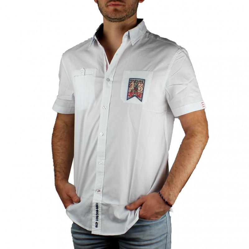 Yago Courtes Blanc Sailing Homme Hublot Manches Pour Chemise 0PnXk8wO