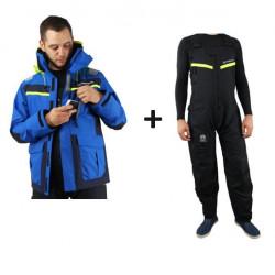Pack veste + salopette hauturière DYNAMIC - Orangemarine - BLEU / ROUGE