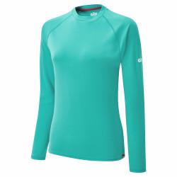 Tee-shirt manches longues avec protection UV 50+ pour femme - UV011 - Bleu - GILL