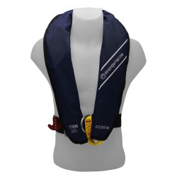 Gilet de sauvetage gonflable manuel 170N avec harnais ESSENTIAL Navy - ORANGEMARINE