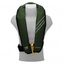Gilet de sauvetage gonflable manuel 170N ESSENTIAL Vert - ORANGEMARINE