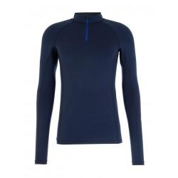 Tee-shirt thermique demi-zip OLIVER - BERMUDES - Navy - BERMUDES