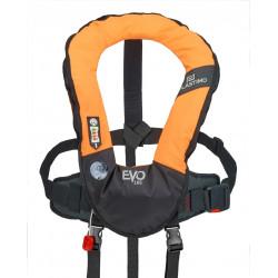 Gilet de sauvetage gonflable manuel EVO 165N orange avec harnais