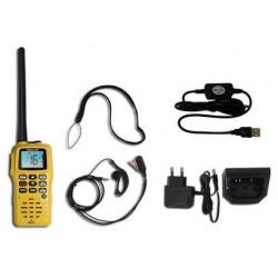 Pack VHF portable NAVICOM RT411 avec kit oreillette et chargeur USB