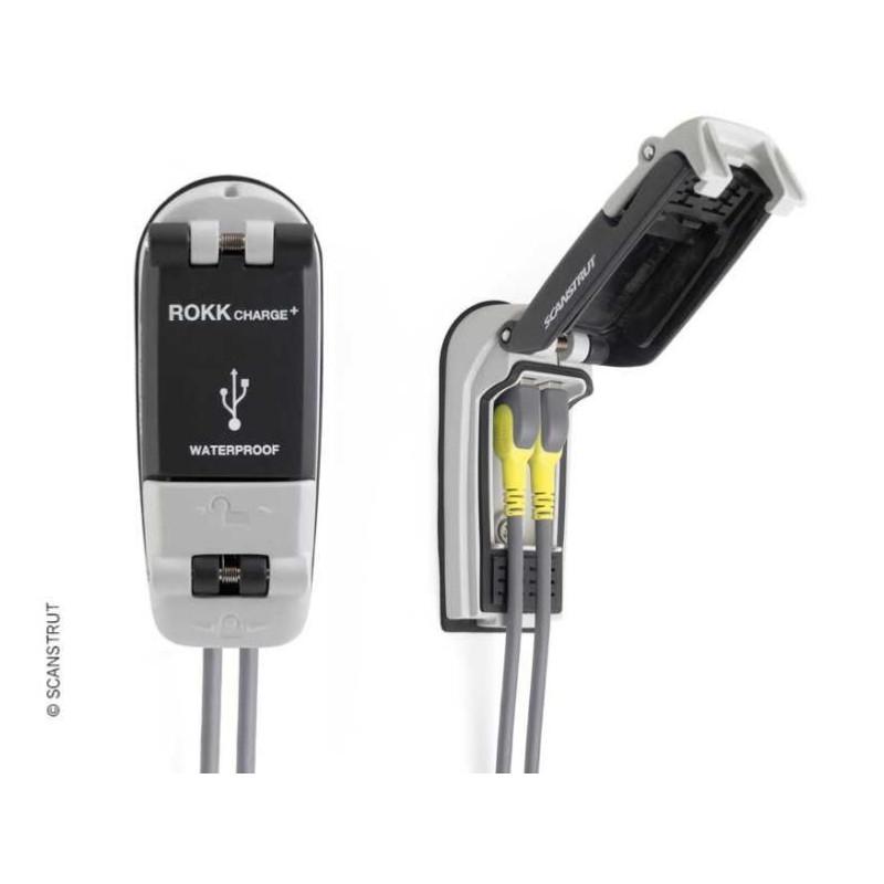 DOUBLE PRISE USB ÉTANCHE ROKK CHARGE RAPIDE - SCANTRUST