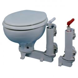 WC marin manuel RM69 cuvette porcelaine abattant en bois