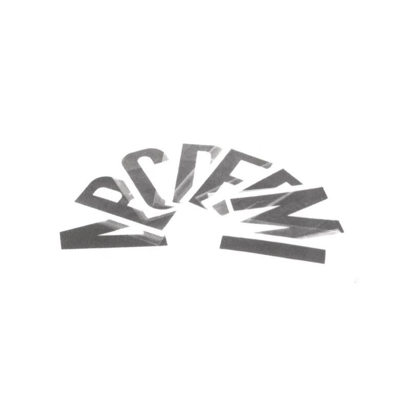 Lettre 8cm pour pneumatique Couleur NOIR Modele C