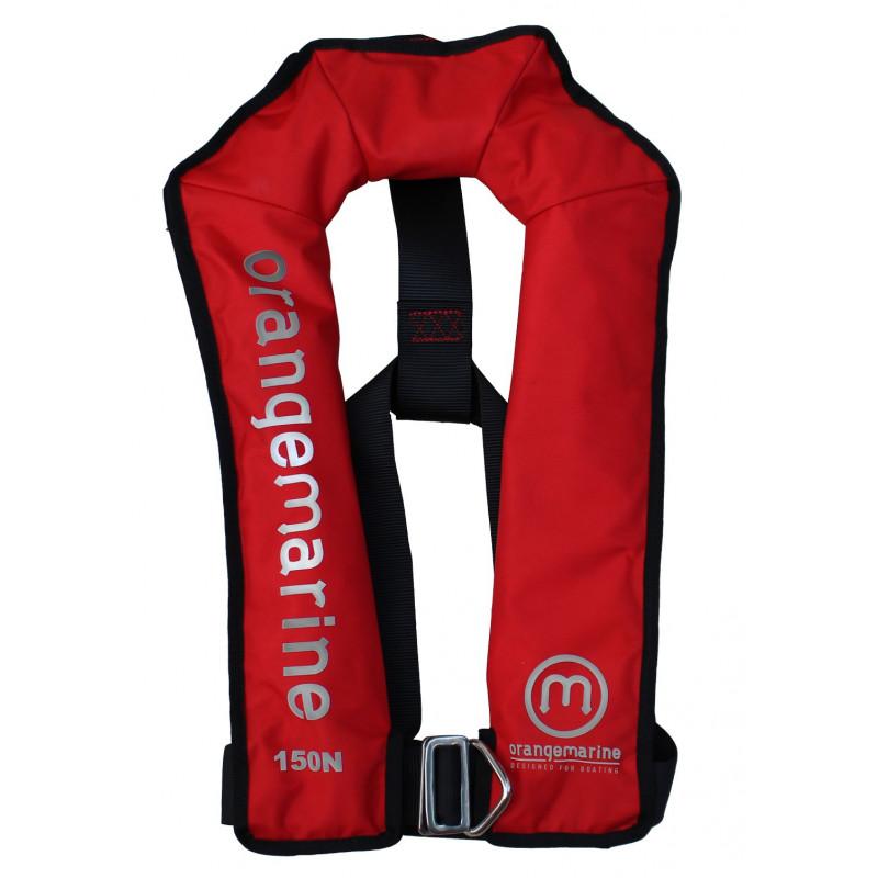 gilet gonflable automatique avec harnais 150 n rouge gilet de sauvetage oran. Black Bedroom Furniture Sets. Home Design Ideas