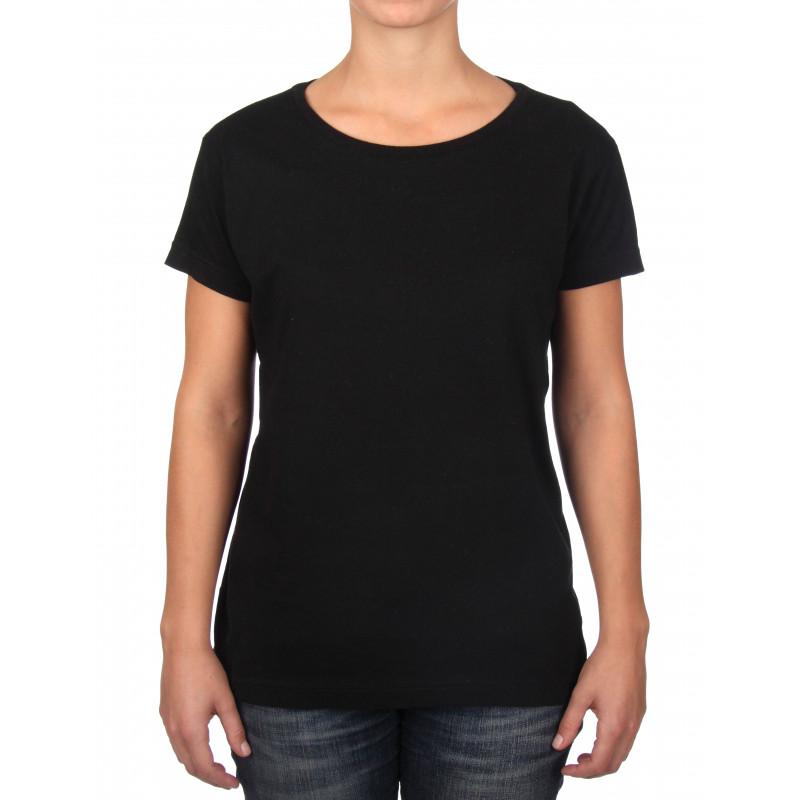 Noir T Col Basic Rond Femme Shirt XN0Pn8wkO