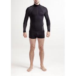 Tee-shirt ML Thermique homme ACTIVE BASE ZIP NECK Noir - MUSTO