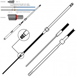 Câble de direction M66 - Ultraflex