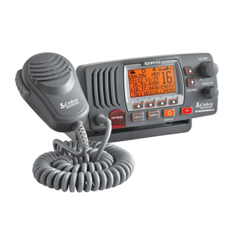 VHF fixe COBRA F77 - Antenne GPS intégré