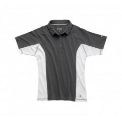 Polo de navigation avec protection solaire UV50 TEC pour homme - Noir/blanc - Gill