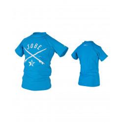 Tee Shirt rashguard garçon bleu - JOBE