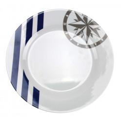 Assiette plate MARINA 25 cm - COULEUR MER