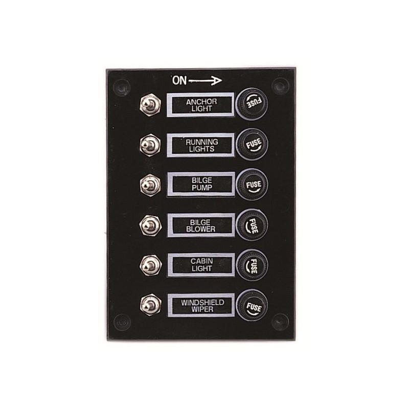 Tableau électrique étanche 6 interrupteurs